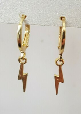 Tiny lightning oorbellen goud