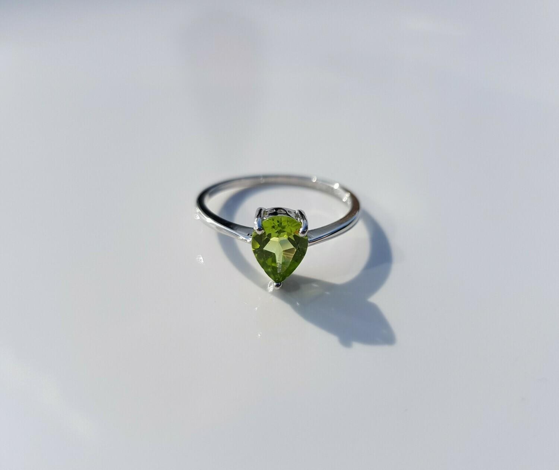 Groen Peridot ring 925 sterling zilver