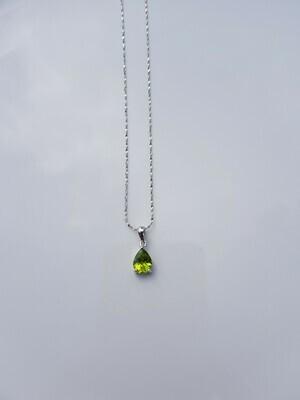 Groen Peridot halsketting 925 sterling zilver
