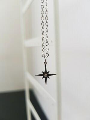 Shining star halsketting zilver