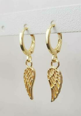 Angel wings oorbellen goud