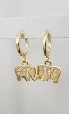 Olifant oorbellen goud