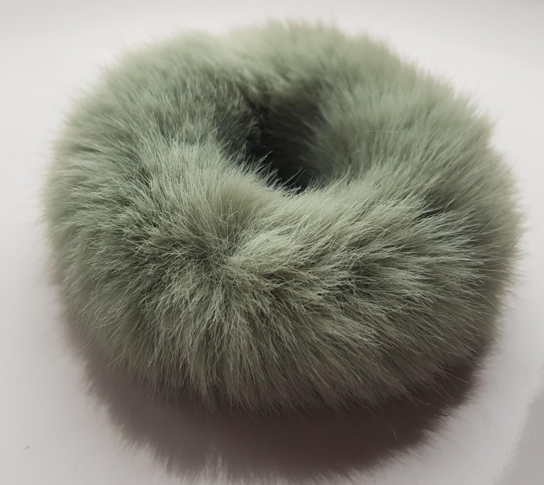 Furry scrunchie groen