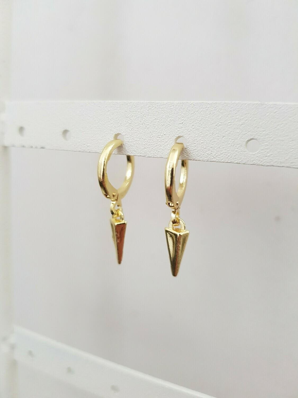 Tiny icicle oorbellen goud