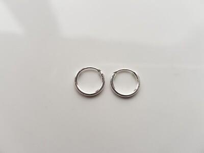 Oorringetjes 925 sterling zilver 7 mm