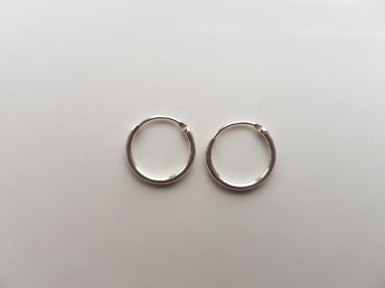 Oorringetjes 925 sterling zilver 10 mm