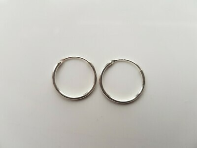 Oorringetjes 925 sterling zilver 14mm