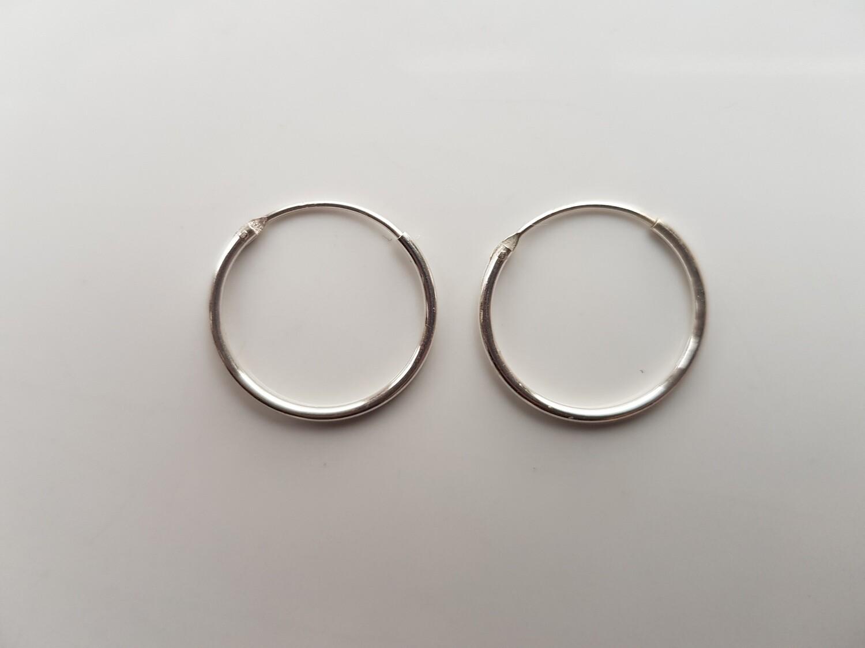 Oorringetjes 925 sterling zilver 18 mm