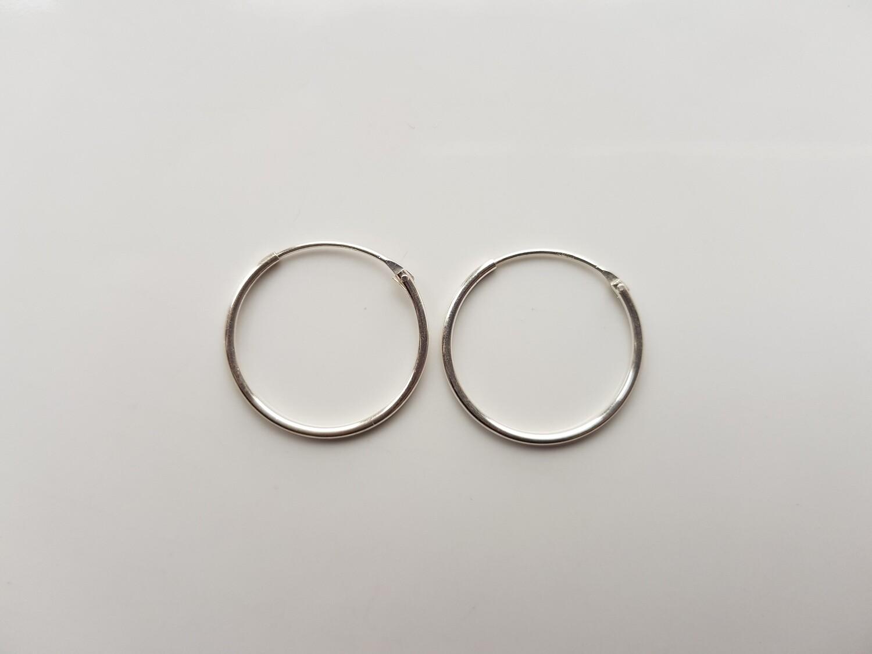 Oorringetjes 925 sterling zilver 16 mm