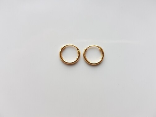 Oorringetjes 6 mm goud gold plated