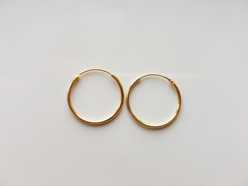 Oorringetjes 18 mm goud gold plated