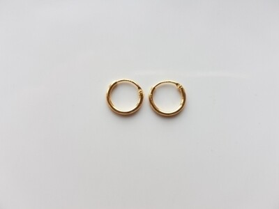 Oorringetjes 8 mm goud gold plated
