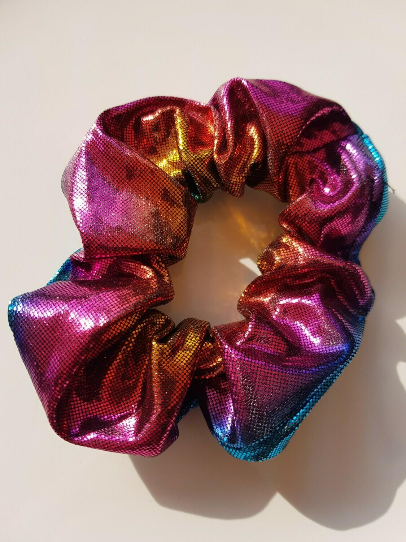 Glitter disco scrunchies 4 kleuren