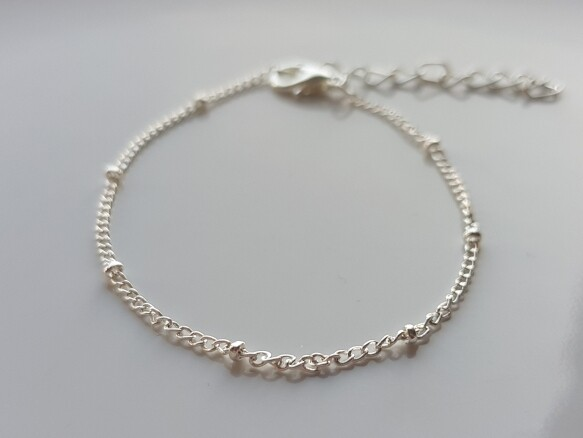 Tiny beads armband zilver