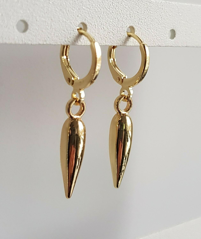 Pegel oorbellen goud