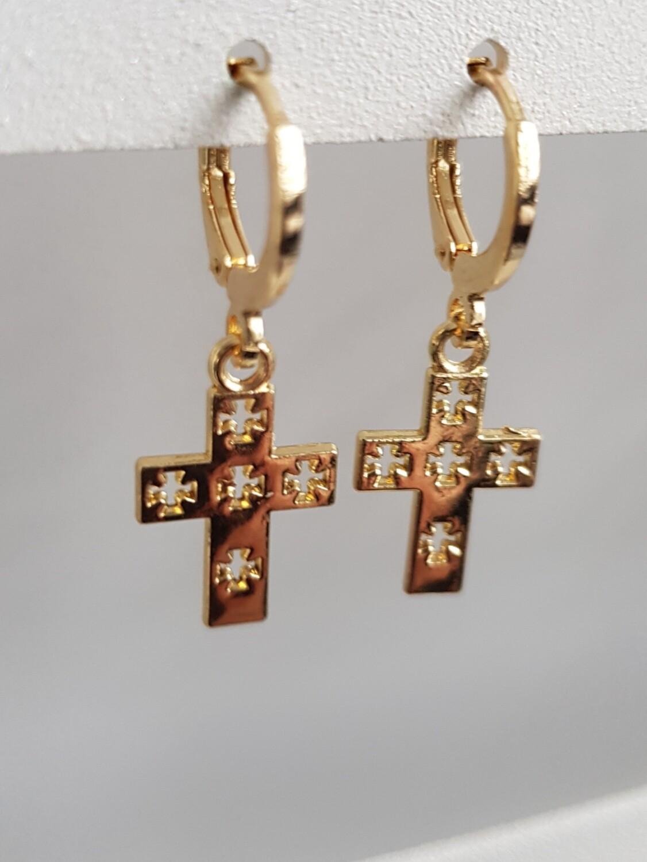 Cross with crosses goud