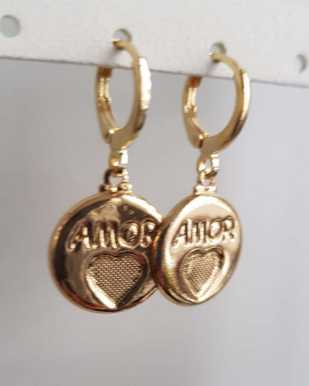 Amor oorbellen goud