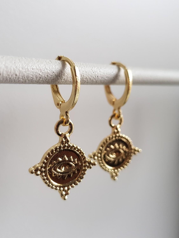 Eye oorbellen goud
