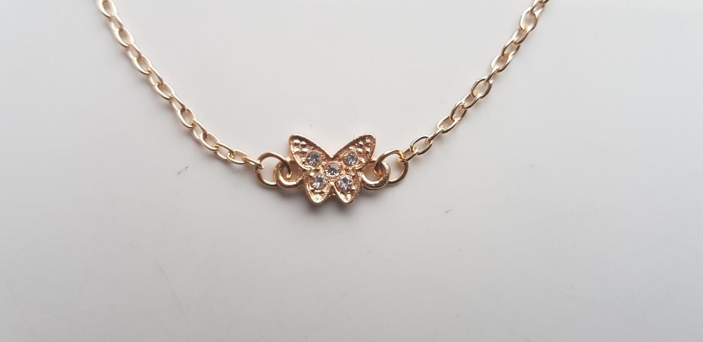 Tiny vlinder armband goud