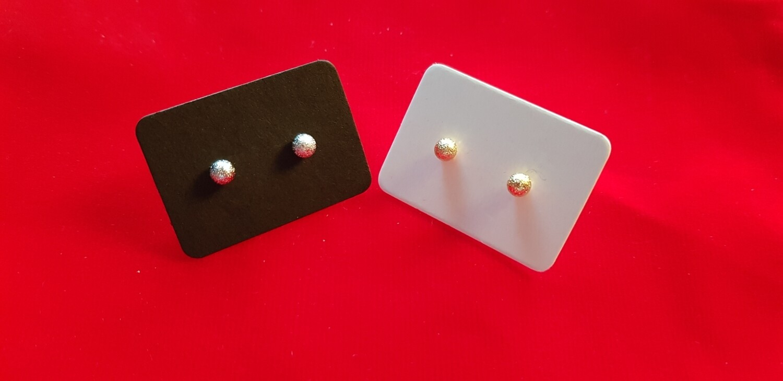 Knopjes zilver 4 mm mat