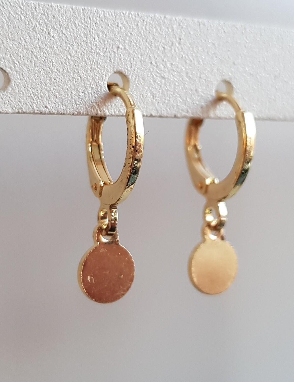 Tiny coin oorbellen goud