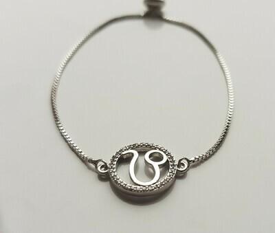 Sterrenbeeld armband met strass steentjes zilver