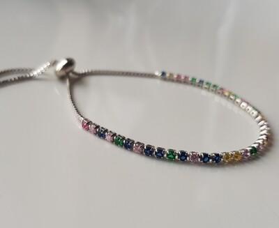 Rainbow armbandje zilver