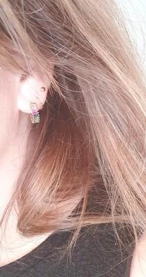 Regenboog oorbellen goud