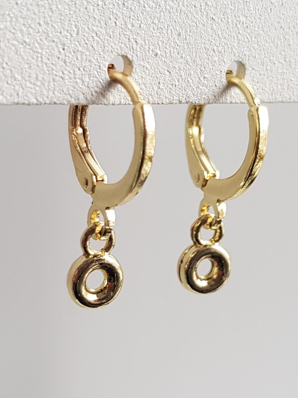 Tiny rondje oorbellen goud