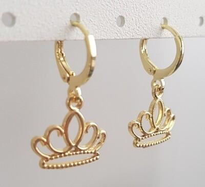 Kroontjes oorbellen goud