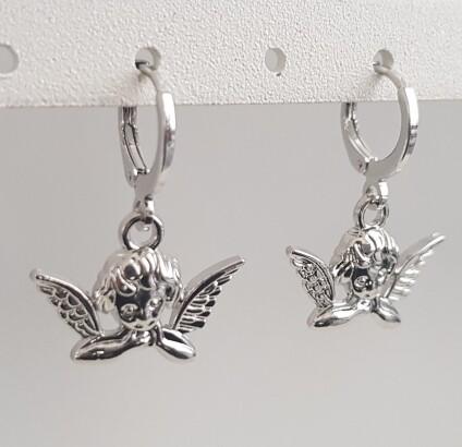 Angel oorbellen zilver