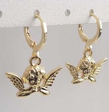 Angel oorbellen goud