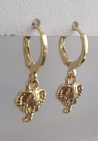 Mini olifant oorbellen goud