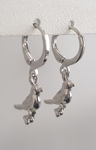 Vogeltjes oorbellen zilver