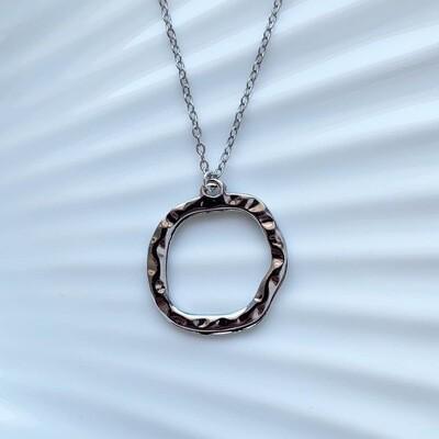 Circle ketting zilver