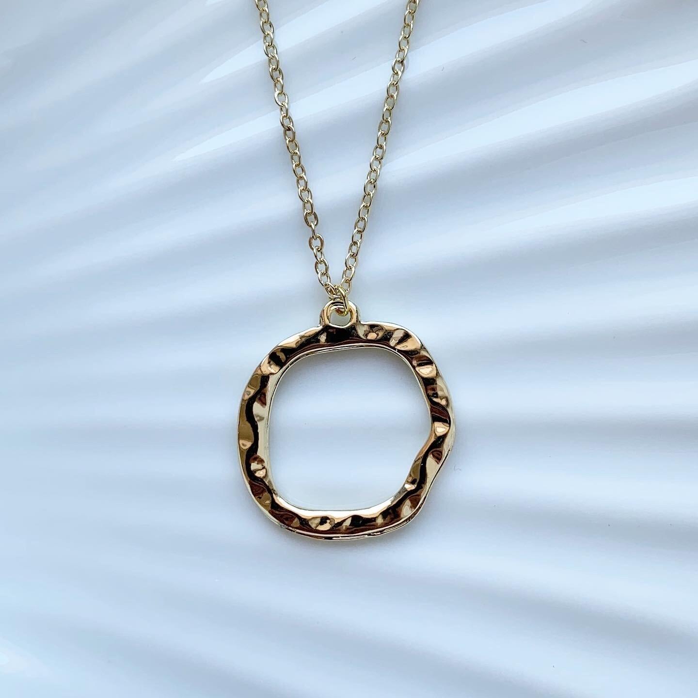 Circle ketting goud