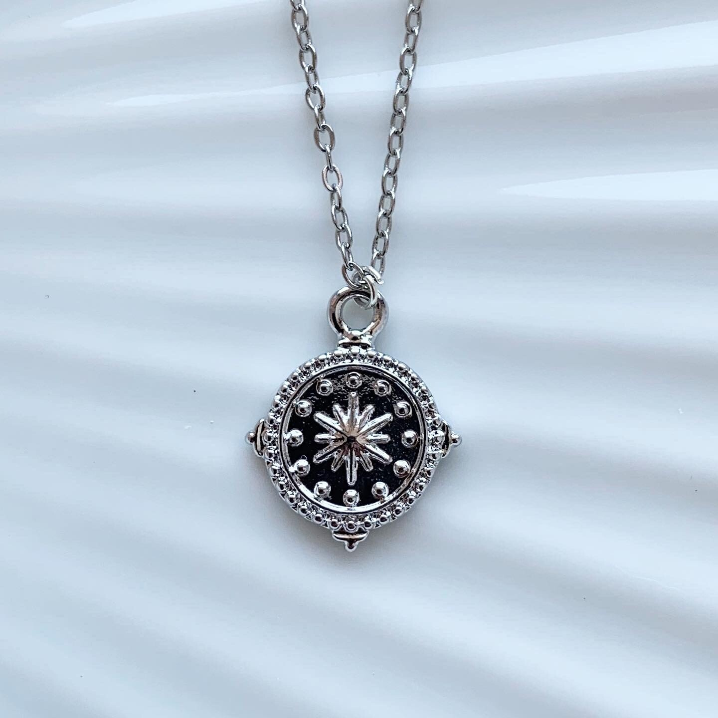 Star coin ketting zilver