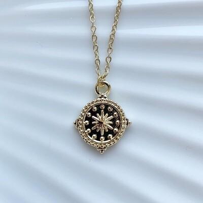 Star coin ketting goud