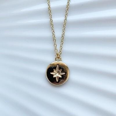 Falling star ketting goud