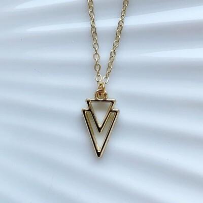 Driehoek ketting goud