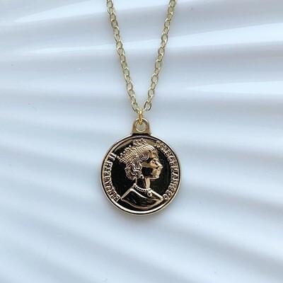 Coin ketting goud