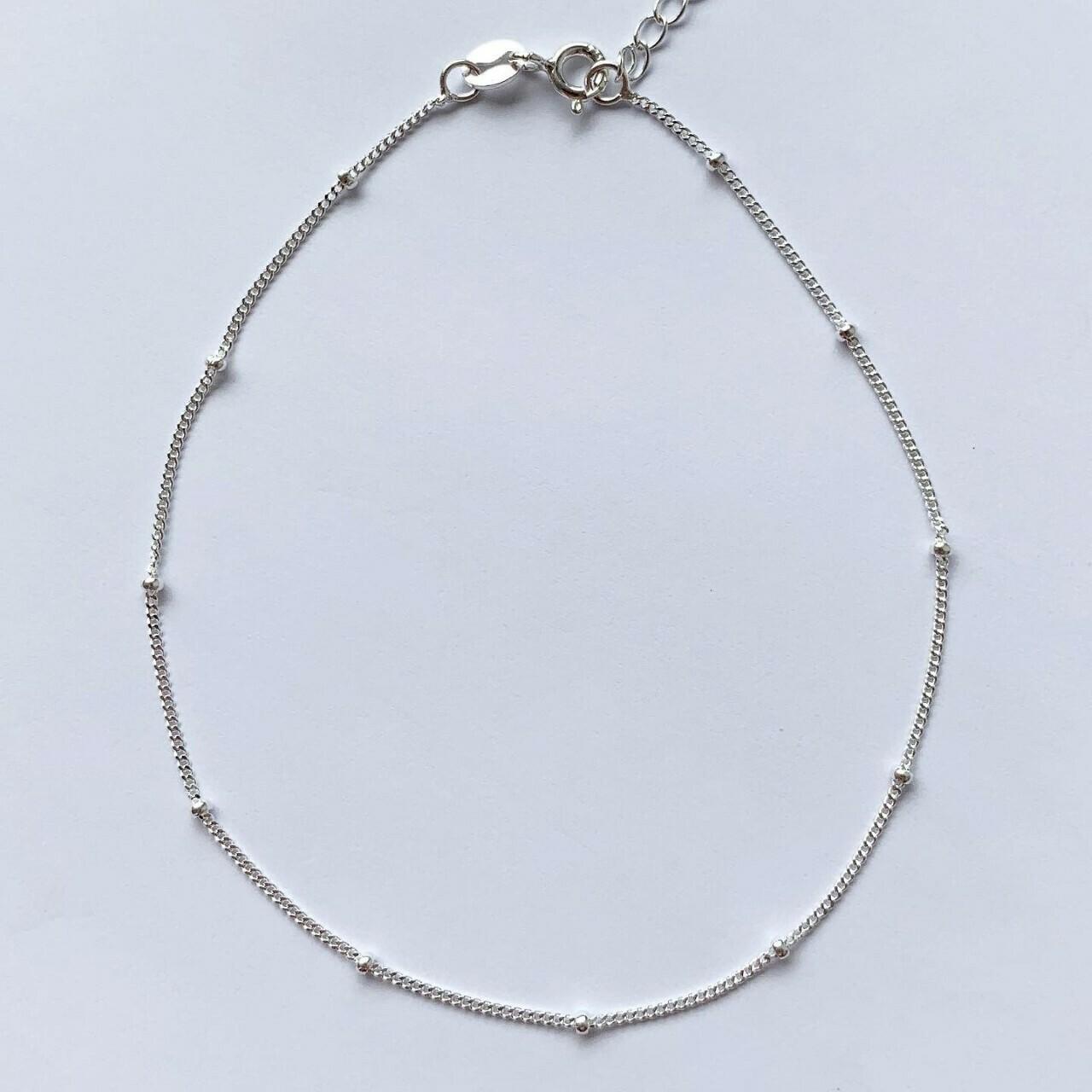 Enkelbandje met tiny beads 925 sterling zilver