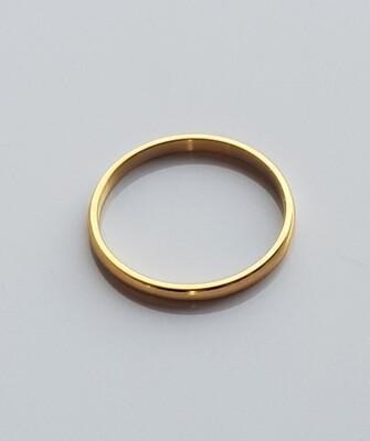 Minimalistische ring goud stainless steel