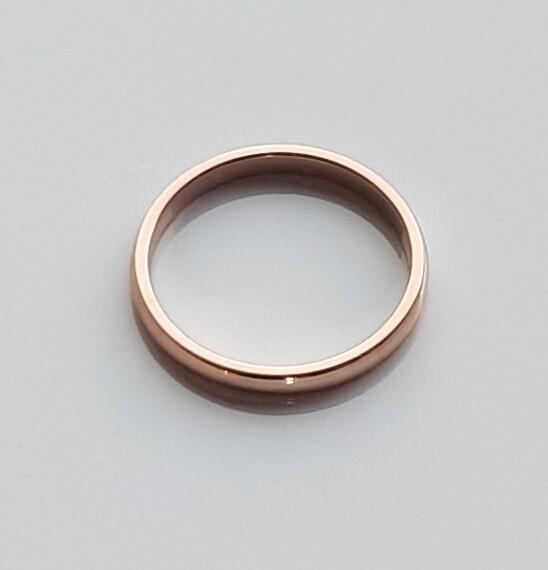 Minimalistische ring roségoud stainless steel