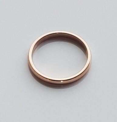 Minimalistische ring rosé goud stainless steel