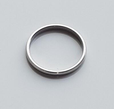 Minimalistische ring zilver stainless steel
