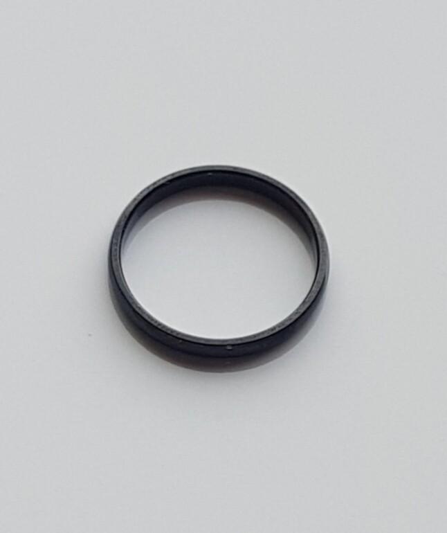 Minimalistische ring zwart stainless steel