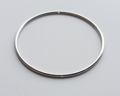 Minimalistische armband zilver stainless steel