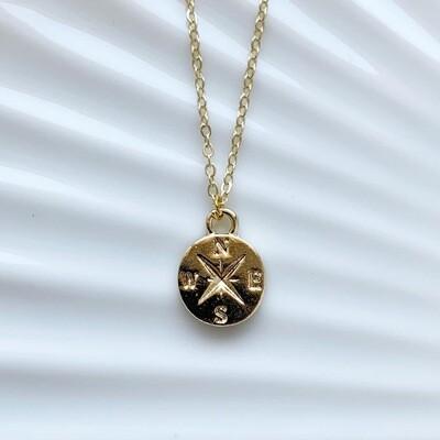 Kompas ketting goud