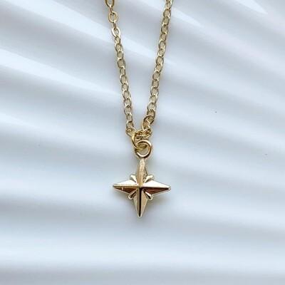 3D sterren ketting goud